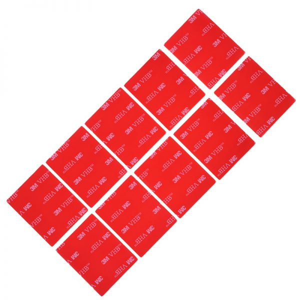 10pc 3M Transparent Tape Rubber Foam Double Sided Adhesive Strong Paste Red Transparent Bottom Office Stationery 1 - Nano Tape