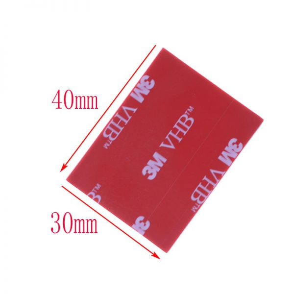 3M Black Tape Rubber Foam Double Sided Adhesive 30 40mm Strong Paste Surface Red Gray Bottom 5 - Nano Tape