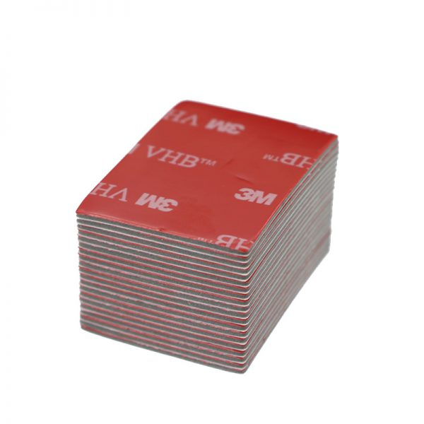 3M Black Tape Rubber Foam Double Sided Adhesive 30 40mm Strong Paste Surface Red Gray Bottom - Nano Tape