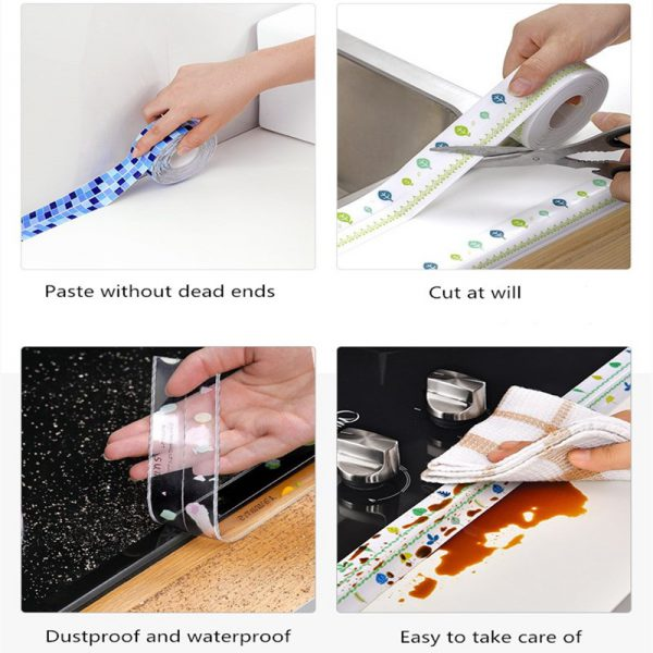 Anti mold Waterproof Tape Nano Traceless Tape Kitchen Sink Waterproof Sticker Bathroom Toilet Gap Self adhesive 3 - Nano Tape