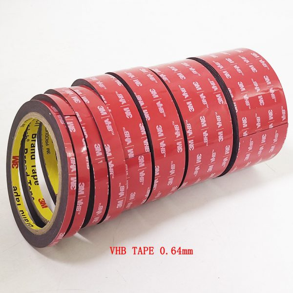 free shipping 0 64mm x 3meter Car Special Double sided Tape 3M VHB Black Strong Tape 1 - Nano Tape