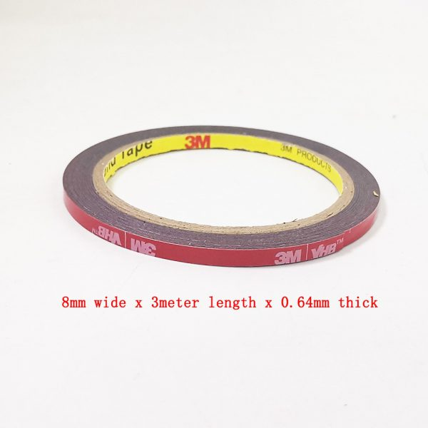 free shipping 0 64mm x 3meter Car Special Double sided Tape 3M VHB Black Strong Tape 3 - Nano Tape